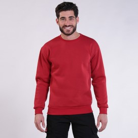 Sweatshirt 00042 Inner Fluff Cotton Blend 320 Gsm Regular Fit Red