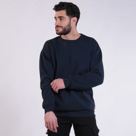 Sweatshirt 00042 Inner Fluff Cotton Blend 320 Gsm Regular Fit Navy