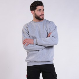 Sweatshirt 00042 Inner Fluff Cotton Blend 320 Gsm Regular Fit Sport Grey