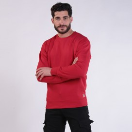 Sweatshirt 05042 DS Cotton Blend 275 Gsm Regular Fit Red
