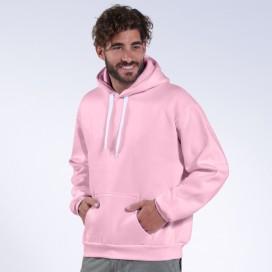 Hoodie 00043 Inner Fluff Cotton Blend 320 Gsm Regular Fit Pink