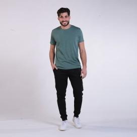Jogging Pants 44004 Cotton With Rib Slim Fit Black