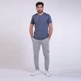 Jogging Pants 44004 Cotton With Rib Slim Fit Grey