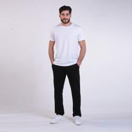 Jogging Pants 44014 Cotton Without Rib Slim Fit Black