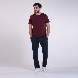 Jogging Pants 44014 Cotton Without Rib Slim Fit Navy