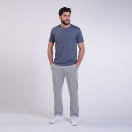 Jogging Pants 44014 Cotton 265 Gsm Without Rib Slim Fit Grey