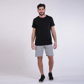Workout Shorts 4402 Cotton 265 Gsm Regular Fit Grey