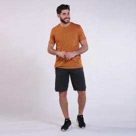 Workout Shorts Front Pocket 3060 Cotton 265 Gsm Regular Fit Black