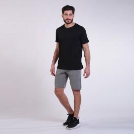 Workout Shorts Front Pocket 3060 Cotton 265 Gsm Regular Fit Grey