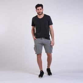Workout Shorts Cargo 3100 Cotton 265 Gsm Regular Fit Grey