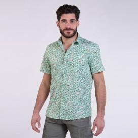 Πουκάμισο JOIN CLOTHES Floral Print Short Sleeves Cotton Veramant