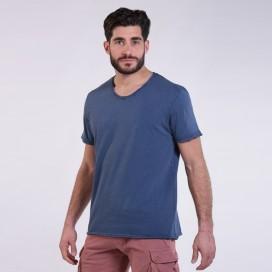 T-Shirt 5502 V-Neck Cotton 180 Gsm Regular Fit Unisex Indigo