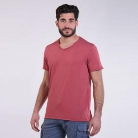 T-Shirt 5502 V-Neck Cotton 180 Gsm Regular Fit Unisex Burgundy
