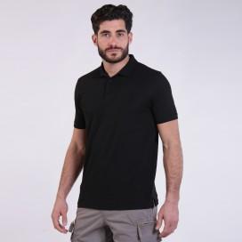 T-shirt 2200 Pique Knit Polo Cotton 190 Gsm Regular Fit Black