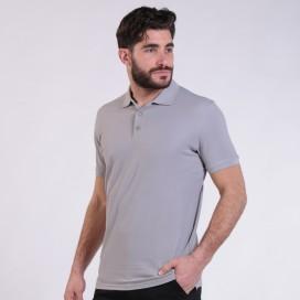T-shirt 2200 Pique Knit Polo Cotton 190 Gsm Regular Fit Light Grey