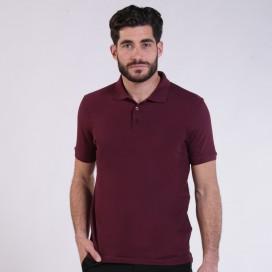 T-shirt 2200 Pique Knit Polo Cotton 190 Gsm Regular Fit Burgundy