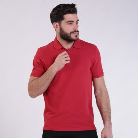 T-shirt 2200 Pique Knit Polo Cotton 190 Gsm Regular Fit Red