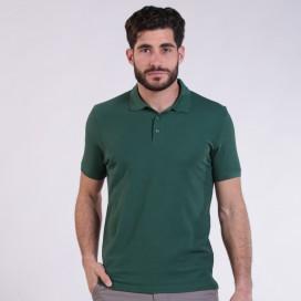 T-shirt 2200 Pique Knit Polo Cotton 190 Gsm Regular Fit Dark Green