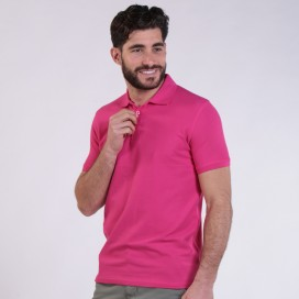 T-shirt 2200 Pique Knit Polo Cotton 190 Gsm Regular Fit Fuchsia
