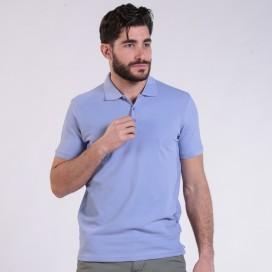 T-shirt 2200 Pique Knit Polo Cotton 190 Gsm Regular Fit Light Sky