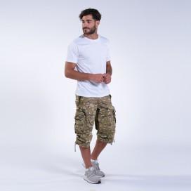 Shorts 3/4 MLC 45056 Canvas Cap Pocket Zipper Loose Fit Multi Camo