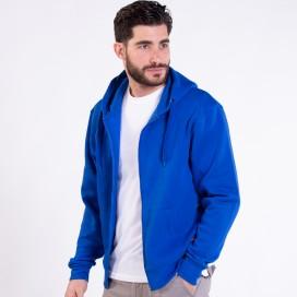 Jacket Hoodie 03042 DS Zipper Cotton Blend 275 Gsm Slim Fit Royal
