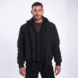 Jacket DS 2025 Hooded Bomber Polyester Black