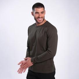 Long Sleeve T-Shirt 1105 Cotton 190 Gsm Regular Fit Khaki
