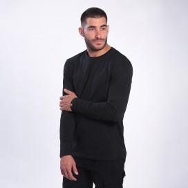 Long Sleeve T-Shirt 1105 Cotton 190 Gsm Regular Fit Black