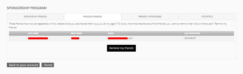 PENDING FRIENDS